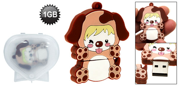Happy Cartoon Doggie 1GB USB Pen Flash Drive
