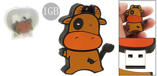 1GB Brown Naughty Calf USB Memory Stick