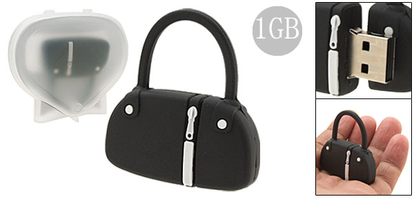 Black Rubber Bag Shaped 1GB USB Memory Stick