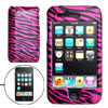 Amaranth Pink Black Zebra Pattern Hard Plastic Case for iPhone 3G