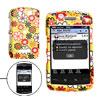 Flower Pattern Yellow Plastic Case for Blackberry Storm 9530