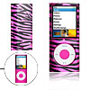Amaranth Pink Zebra Plastic Case for iPod Nano Chromatic 4th Gene...