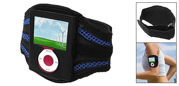 Black Sports Armband Carrying Case for iPod Nano 3rd Generation