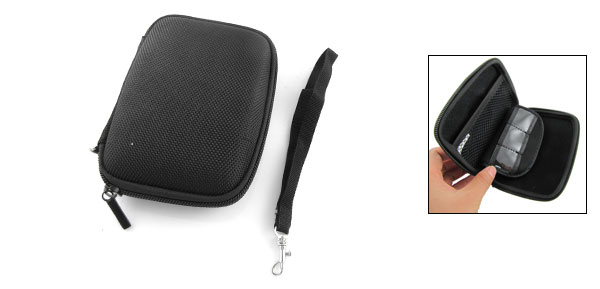 Black Nylon Hard Case Cover with Hand Strap for canon GPS