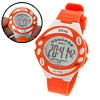 Girls Digital Sports Wrist Watch Orange with Cold Light