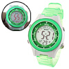 Green Digital Cold Light Sports Alarm Wrist Watch for Girls Child...