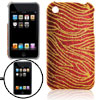 Glittery Stripes Plastic Case for Apple iPhone 1G