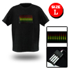 Disco Dancing Music Sound-Activated LED EL T-Shirt L