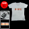 XL Flash LED Light Up Girls EL T-Shirt White for Girls
