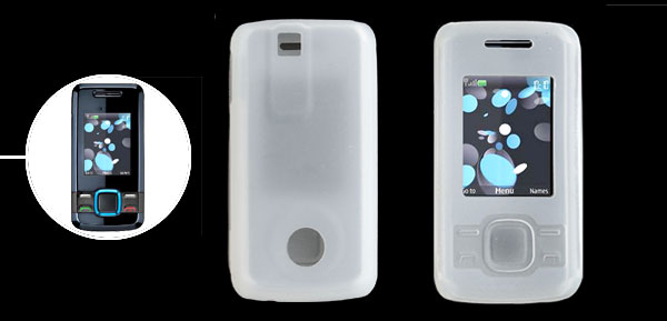 Clear White Silicone Skin Case for Nokia 7100 Supernova 7100s
