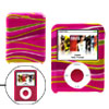 Yellow Print Magenta Plastic Case Cover for iPod Nano 3rd Generat...