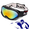 Ski Snowboard Goggles with Black Frame Color Coated Lens