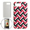 Leather Wrapped Plastic Back Case Cover for Samsung Omnia i908 i9...