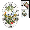 Seaside Time Wall Clock Timer + Counted Cross Stitch Cross-Stitch Fabric Kit