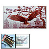 Flying Eagle in Forest Pattern Counted Cross Stitch Cross-Stitch ...