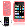 Rugged Silicone Skin Case Cover Pink for Apple iPhone 3G