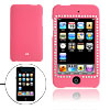 Pink Hard Plastic Case with Rhinestone for iPod Touch 2G