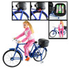 Blue Battery Operated Music Bike Bicycle Miniature Toy