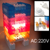 DIY Brick Tower Mood Night Lamp Light 220V