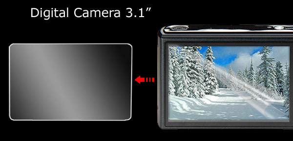 LCD Screen 3.1 Inch Guard Protector for Digital Camera