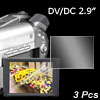 "DV DC 2.9"" Digital Camera Protector LCD Screen Ward 3 Pcs"