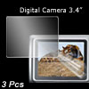 "3.4"" LCD Screen Guard Protector for Digital Camera DC 3 Pcs"