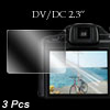 "DV DC Digital Camera Video 2.3"" LCD Screen Guard 3 Pcs for Nikon S2500"