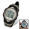 Black PASNEW EL Light Alarm Stopwatch Round Sports Watch