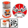 Orange Peking Opera Face Toothpick Holder Case + Bottle Opener