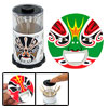 Peking Opera Face Black Automatic Toothpick Holder Case + Bottle ...