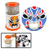 2 in 1 Peking Opera Face Bottle Opener Toothpick Holder Case