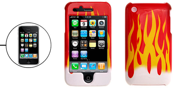Fire Pattern Hard Protective Case Cover for iPhone 3G