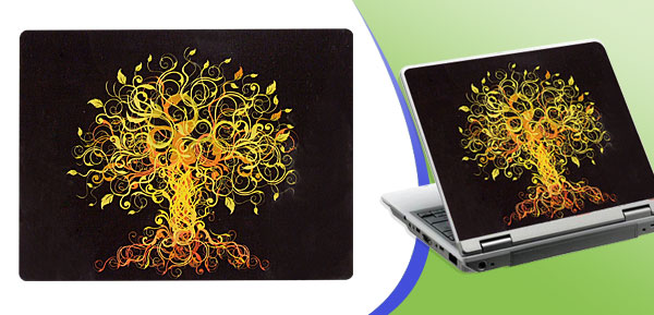 Yellow Tree Pattern NoteBook Laptop Decal Sticker Skin Art