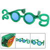 Green 2009 Year LED Flashing Light Glasses for Party