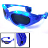 Magic Club Party Blue LED Flash Plastic Eye Sunglasses