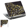 Star Pattern Art NoteBook Laptop Black Decal Sticker Skin