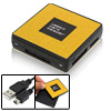 Square USB 2.0 Memory Card Reader for Micro SD XD MS M2