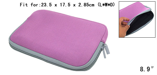 Purple Neoprene Sleeve Bag for Notebook Laptop Asus 8.9