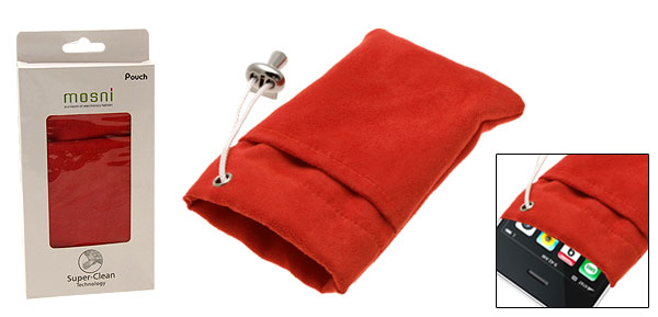 Red Flannelette Mobile Phone Pouch for iPhone 3G iPod Touch