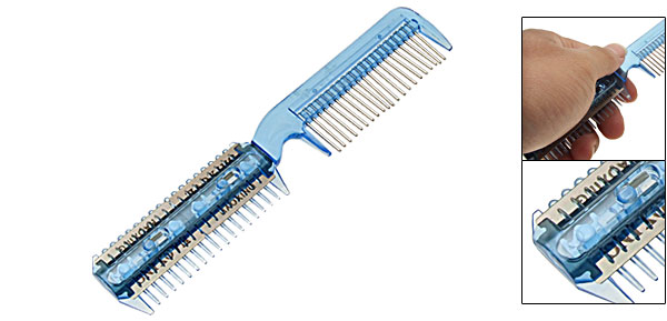 Professional Hair Cutting Trimmer Razor Comb Blue