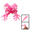 Pink Gift Packing Poly Ribbon Wrapping Flower Pull Bows