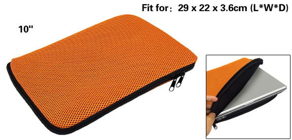 Orange Holder Sleeve Carrying Case Bag for 10