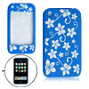 Flower Silicone Skin Case Cover Blue for Apple iPhone 3G