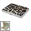 Leopard Skin Pattern Metal Cigar Tobacco Cigarette Carry Case Hol...