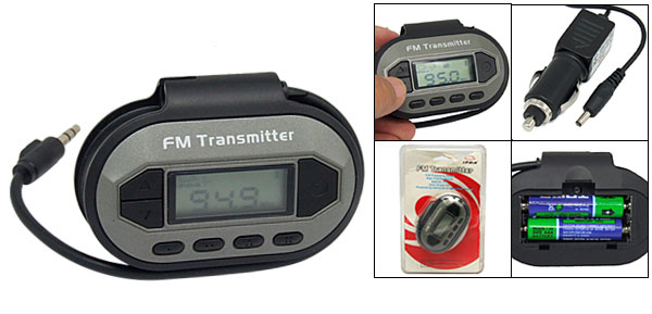 3.5mm Plug FM Transmitter + Car Charger for iPod MP3 MP4