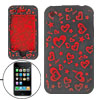 Soft Red Heart Black Silicone Case Cover for iPhone 3G