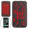 Red Flaming Fire Pattern Silicone Case Cover for iPhone 3G