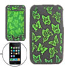 Small Green Butterfly Silicone Skin Case Cover for iPhone 3G