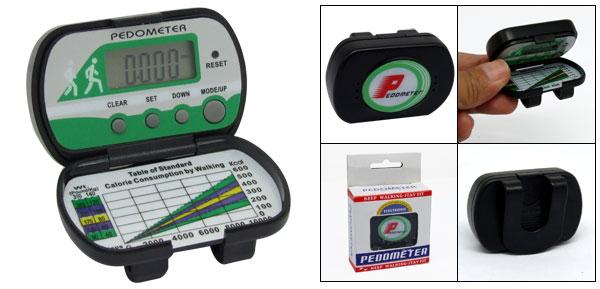 LCD Digital Pedometer Step Counter with Alarm Clock