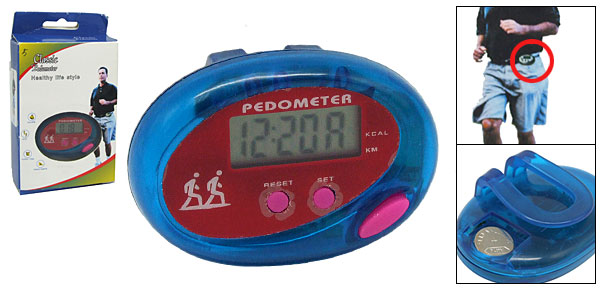 Electronic LCD Digital Pedometer Step Counter with Clip